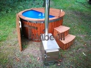 Fiberglass outdoor spa with external burner 28
