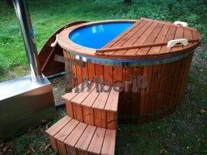 Fiberglass outdoor spa with external burner 3