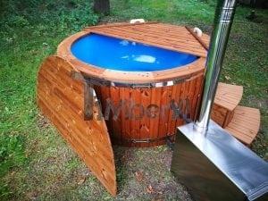 Fiberglass outdoor spa with external burner 34