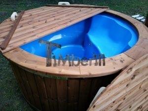 Fiberglass outdoor spa with external burner 39
