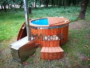 Fiberglass outdoor spa with external burner 4