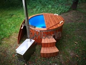 Fiberglass outdoor spa with external burner 5