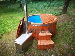 Fiberglass outdoor spa with external burner 7