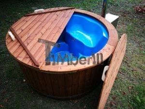 Fiberglass outdoor spa with external burner 9