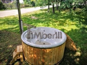 Outdoor fiberglass hot tub with integrated heater Wellness Deluxe 13