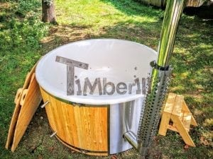 Outdoor fiberglass hot tub with integrated heater Wellness Deluxe 7