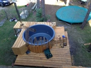 Outdoor spa Fiberglass Terrace Model TimberIN 7