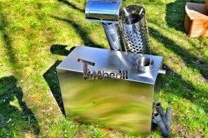 Rectangular stainless steel wood burner 5