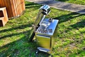 Rectangular stainless steel wood burner 6