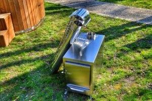 Rectangular stainless steel wood burner 7