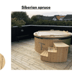 Siberian spruce for Wooden hot tub with electric heater