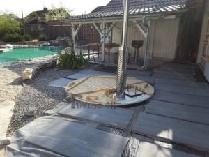 Sunken patio hot tub jacuzzi 12