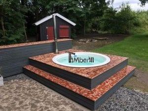 Sunken patio hot tub jacuzzi 4