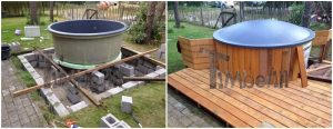 Terrace classic hot tub with straight walls 4