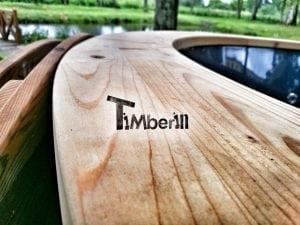 Wellness fiberglasshot tub with complete wood decoration 12