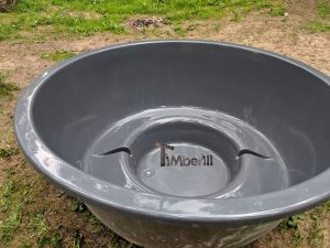 Wellness hot tub with external wood burner 3 1