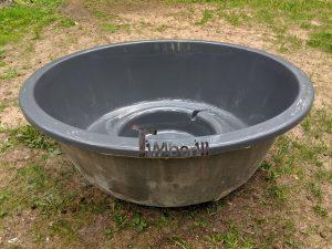 Wellness hot tub with external wood burner 4 1