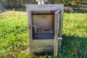 Wood fired hot tub squared heater with glass 2