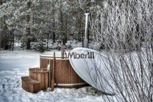Wood fired hot tub with fiberglass lining Wellness Royal 10