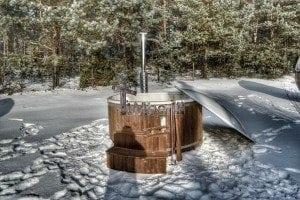 Wood fired hot tub with fiberglass lining Wellness Royal 11