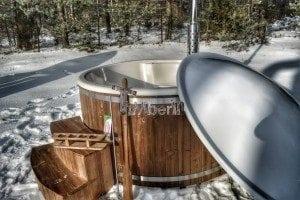 Wood fired hot tub with fiberglass lining Wellness Royal 12