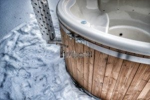 Wood fired hot tub with fiberglass lining Wellness Royal 8