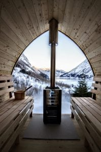 Outdoor Garden Sauna Igloo Design with full panoramic window 9