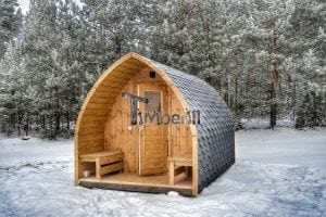 Outdoor sauna igloo design with full wall window for sale 1