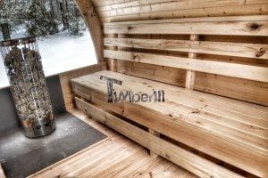 Outdoor sauna igloo design with full wall window for sale 16