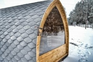 Outdoor sauna igloo design with full wall window for sale 19