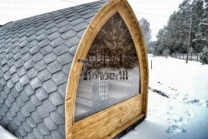 Outdoor sauna igloo design with full wall window for sale 20