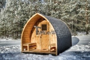 Outdoor sauna igloo design with full wall window for sale 21