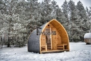 Outdoor sauna igloo design with full wall window for sale 3