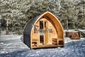 Outdoor sauna igloo design with full wall window for sale 38