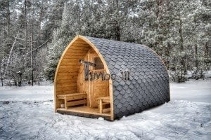 Outdoor sauna igloo design with full wall window for sale 4