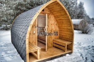 Outdoor sauna igloo design with full wall window for sale 40