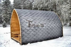 Outdoor sauna igloo design with full wall window for sale 5