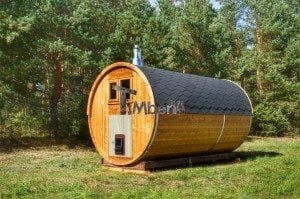 Barrel wooden thermo sauna 10