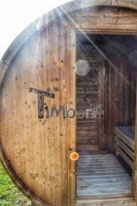 Barrel wooden thermo sauna 21