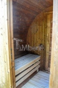 Barrel wooden thermo sauna 22