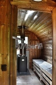 Barrel wooden thermo sauna 25
