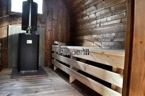 Barrel wooden thermo sauna 30