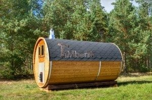 Barrel wooden thermo sauna 8