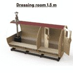 Dressing room 1.5 m for a barrel sauna