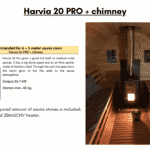 Harvia 20 PRO chimney for a barrel sauna