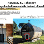 Harvia 20 SL chimney for a barrel sauna