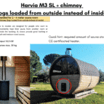 Harvia M3 SL chimney for a barrel sauna