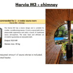 Harvia M3 chimney for a barrel sauna
