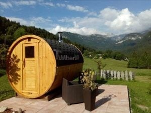 Outdoor Barrel Round Sauna 1