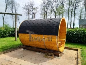 Outdoor Barrel Round Sauna 1 4
